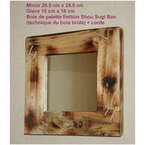 Encadrement miroir en  bois de palette