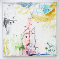 Malerei-Mischtechnik auf Leinwand - 15 x 15 cm - Titel: Märchenschloss
