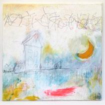 Malerei-Mischtechnik auf Leinwand - 50 x 50 cm - Titel: Ich träumte in Ruh