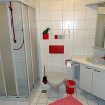 Ferienwohnung mit Dusche