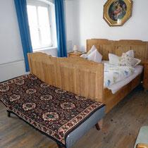 Zweites Schlafzimmer mit Zustellbett