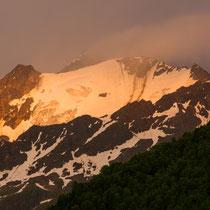 Die Berge in der Abendsonne