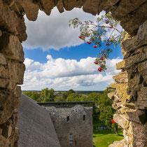 Blick aus der Klosterruine Padise über die unendliche Landschaft Estlands