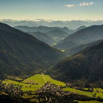 Blick auf Bayrischzell vom Wendelstein