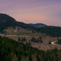 11 Uhr Nachts im Sudelfeld. Blick von der Lampl Alm (Deutsche Alpenstraße/B307)