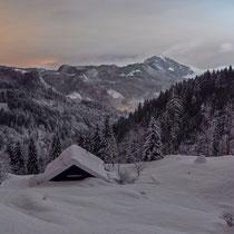 Nächtliche Lichtspiele am Himmel in den Bayerischen Voralpen