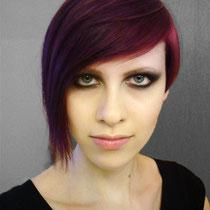 Backstage Selfi bei einer Haarshow. (2011)