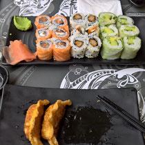 Sushi, auswärts im Mizou, Châlon-sur-Saône