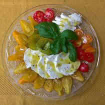 Bunte Tomaten, Mozzarella