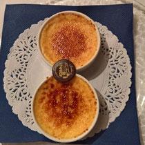 Crème brulée, auswärts im Moulin Bourgchâteau