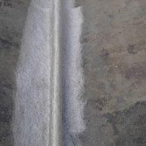 Stratification d'une mousse polyuréthane dans un bateau.