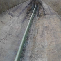 Support de planché bateau en mousse polyuréthane stratifié en polyester.
