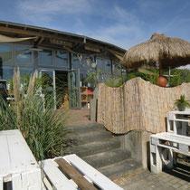 In der Gaststätte Strand-Gut mit mediterranem Flair