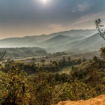 Paysages autour de Kengtung - Triangle d'or