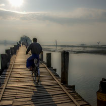 Le pont U Bein - le plus long pont en teck du monde - région de Mandalay