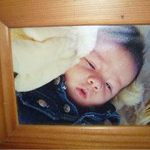 Daneel als Baby.