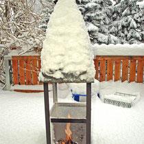Winterkamin, HH-Hausbruch    -   Foto:   Inge Kovarik