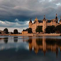 Schweriner Schloss, bevor die Lichter! - Foto; Romana Thurz