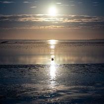 6. Platz 142 Pkt. Vollmond über dem Wattenmeer - Foto: Holger Tobuschat