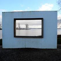 Kunst in der Natur am Schweriner See   -   Foto:   Willi Heinsohn