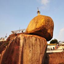 Golden Rock Myanmar   -   Foto: Anja Lewertoff