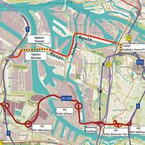 Hafenquerspange - Karte: NABU Hamburg