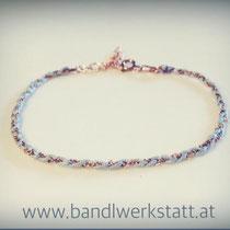 Flechtarmband auf Bestellung erhältich (silber, rose, vergoldet) 18 Euro