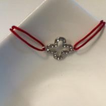 Armband Clover mit Swarovski-Kristallen (silber, vergoldet und rosé) auf Bestellung