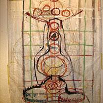 Entwurfsskizze KRAFTBILD  HELFER FÜR J. SCH., 2008, Acryl auf Folie