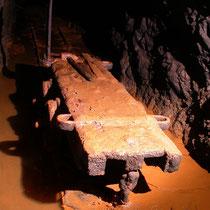 Galerie de la mine de Pikasari sous les travaux romains
