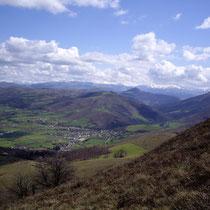 Le village de Saint-Martin-d'Arrossa vu depuis Larla