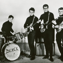 THE BLACK DEVILS vlnr: Josef Fransen - Jacques Wouters - William Backx - Remy Stroop