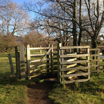 Easy stile on walk from Healaugh to Reeth