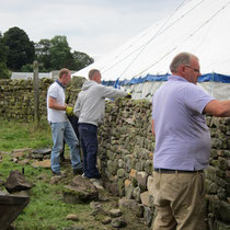 Stone walling competition