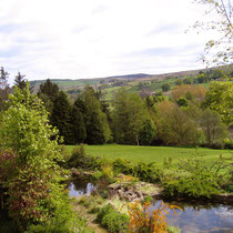 Our ponds with view to river and hills