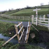 New handrails making plank crossing safer near Swing Bridge