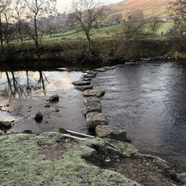 Stepping stones in River Swale Reeth
