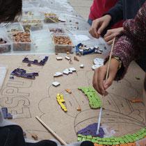 Moià, taller de mosaic 2014