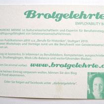 Infopostkarte Rückseite