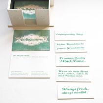 Visitenkarte und Minicards