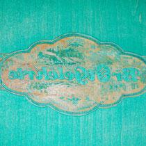 Druckstock Holzschnitt: Logo