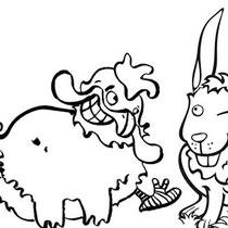 Entwurf der Figuren für Bodeta Hoppei