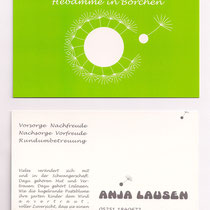 Visitenkarte/Infopostkarte 2 seitig