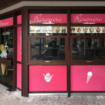 Folienbeschriftung Eiscafé  >> Foil labeling Ice bar