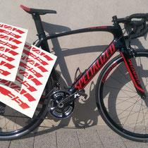 Aufkleber / Beschriftungen Fahrräder/Motorräder, Labels for Bikes