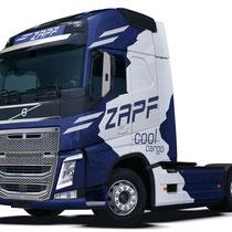 Design für LKW Folierung ZAPF COOL CARGO