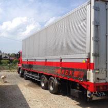 千葉県成田市看板製作 ㈱REX様 大型トラックマーキング デザイン、制作、施工