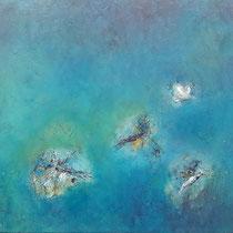 Libellen im Sommer am See (80 x 100 cm)