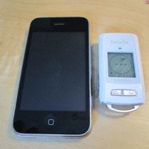Größenvergleich miniHomer und iPhone