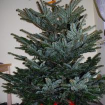 Jetzt nur noch den Kasten verkleiden und fertig ist der selbst gemachte Weihnachtsbaumständer.